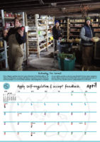 April - Apply self-regulation and accept feedback.