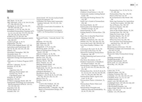 Permaculture Pioneers - Extensive index