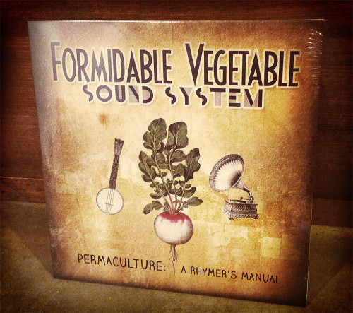"Permaculture: A Rhymer's Manual - Front of 12"" vinyl album"