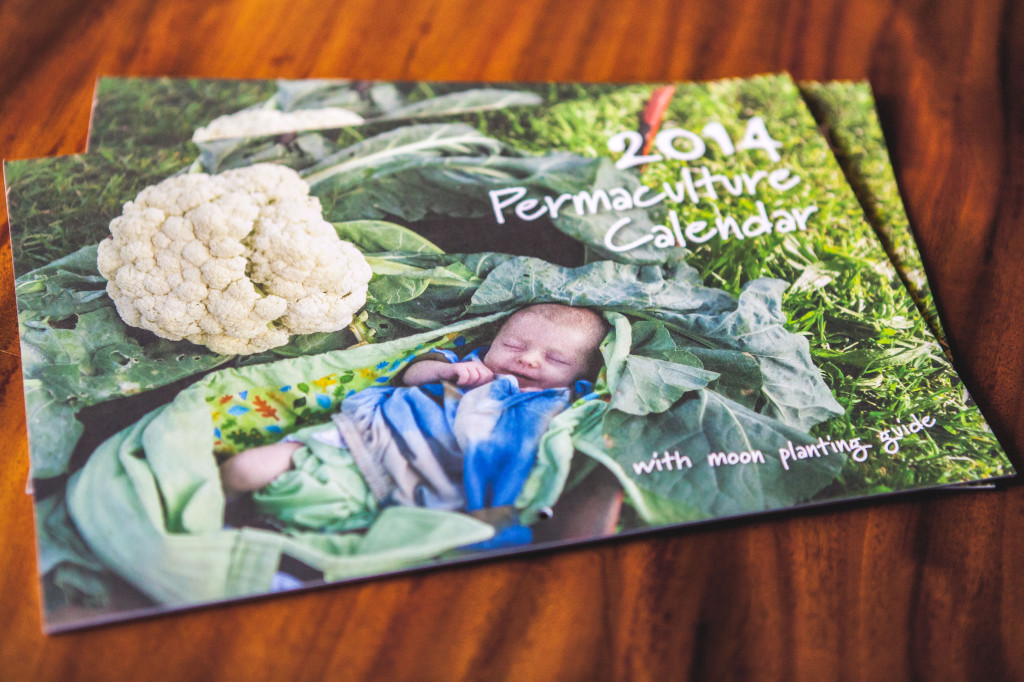 2014 Permaculture Calendars with moon planting guide