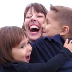 Jen Mendez with her kids