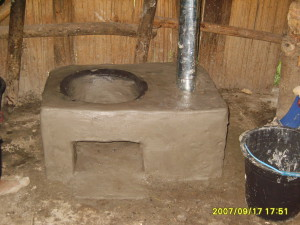 A clay stove oven made during a Permatil workshop in Turiscai