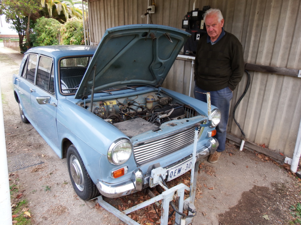 Neil Harris and his Morris 1100EV