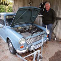 Neil Harris and his Morris 1100EV