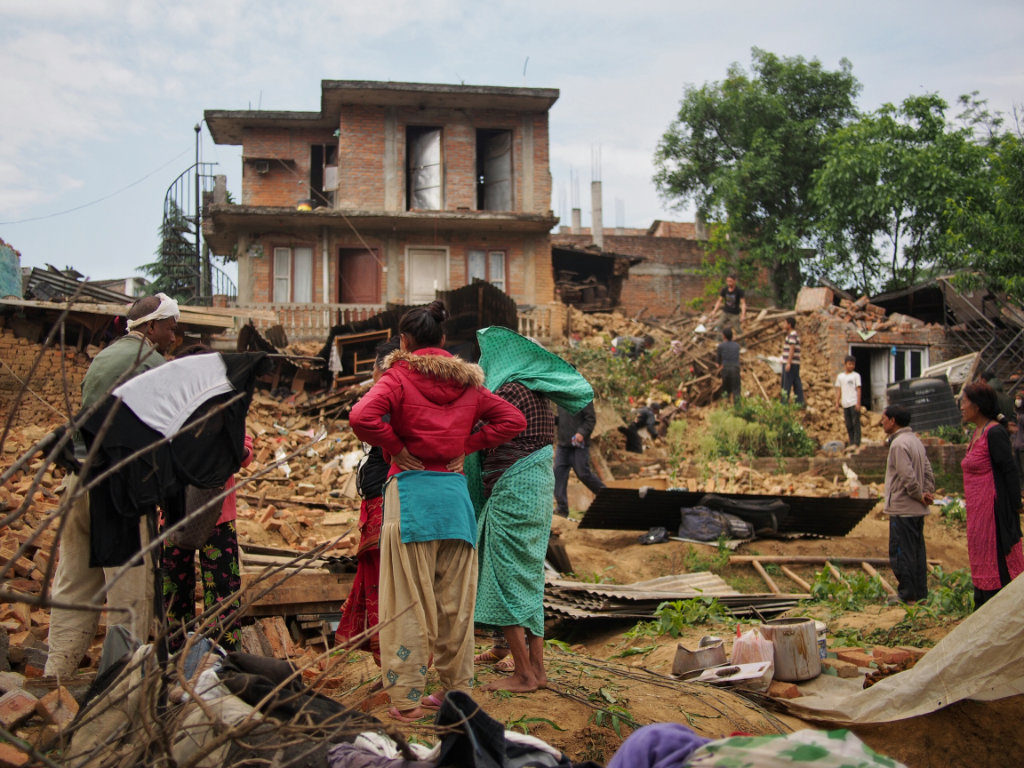 Devastation at Rani Patati village